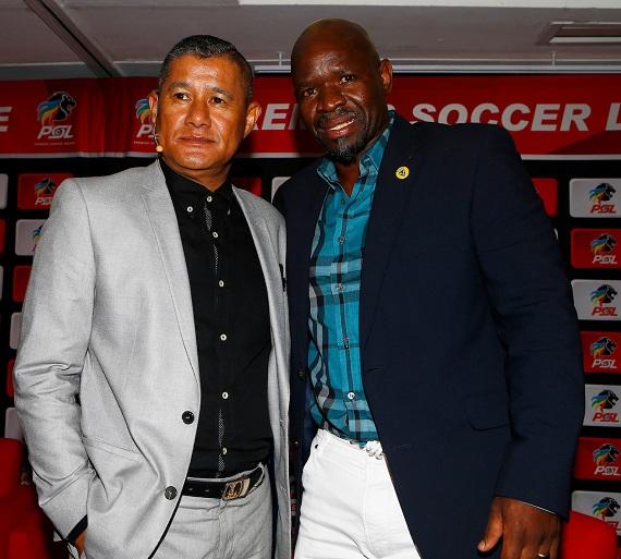 PSL coaches Cavin Johnson and Steve Komphela
