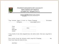 7+ Contoh Surat Keterangan Asal Usul Untuk Berbagai Keperluan
