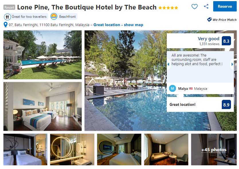 lone pine boutique hotel