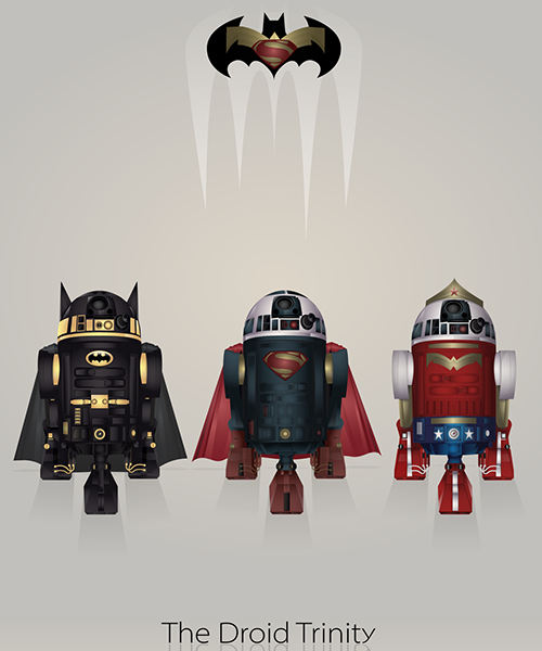 02-Droid-Trinity-Steve-Berrington-Batman-v-Superman-and-their-Superhero-R2-D2-Friends-www-designstack-co