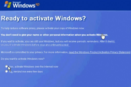 Process of Activate Windows XP for free
