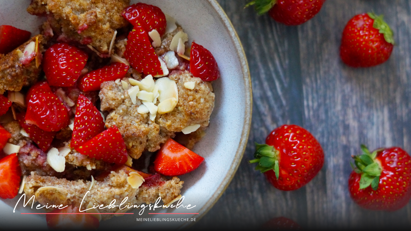 Apfel-Erdbeer-Crumble