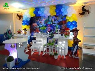 Decoração mesa de aniversário Toy Story - Festa infantil