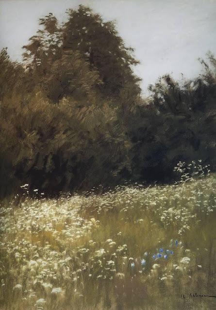 Исаак Ильич Левитан - Луг на опушке леса. 1898