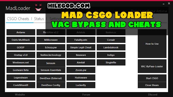 MadLoader [CS:GO Cheat Loader] / VAC-ByPass + Özel Enjektör + Önceden Yapılmış Yapılandırmalar / Otomatik Güncelleme