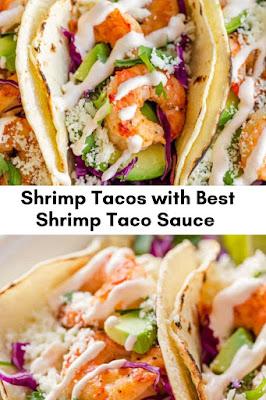 Shrimp Tacos with Best Shrimp Taco Sauce