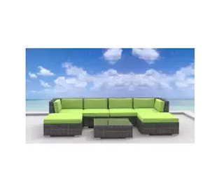 Lime Green Sofa Set, Outdoor Furniture, Urban Furnishing, Urban Furnishing Lime Green Wicker Sofa Set, Wicker Patio Furniture, Wicker Sofa Set, Wicker Sets,