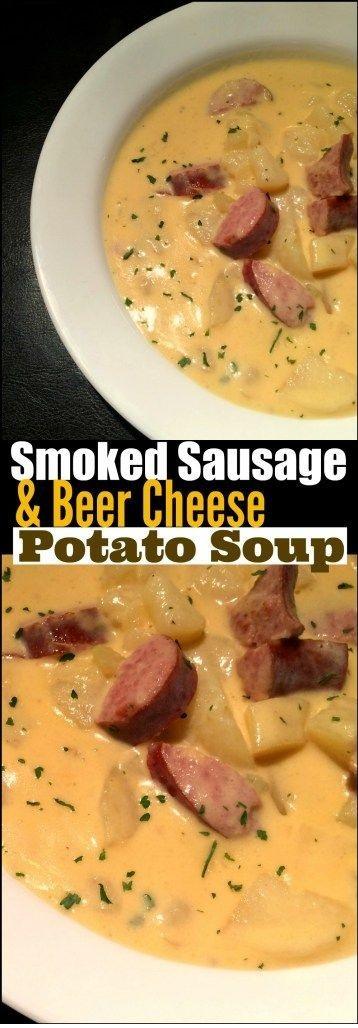 Smoked Sausage & {Beer Cheese} Potato Soup