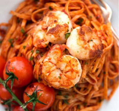 garlic butter tomato shrimp linguine recipe