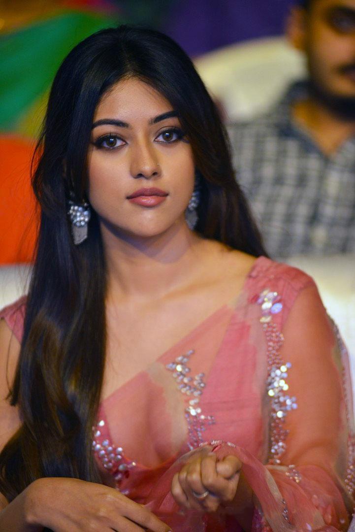 hot actress Anu Emmanuel In Pink Saree