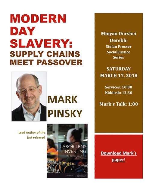 Our Own Mark Pinsky on Modern Day Slavery: Supply Chains Meet Passover