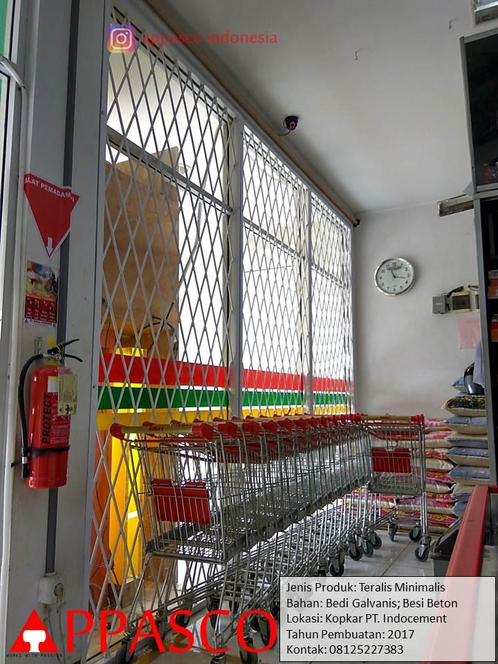 Teralis Minimalis Besi Beton di Koperasi Karyawan PT Indocement