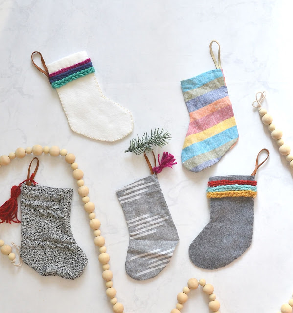 how to make linen christmas stockings