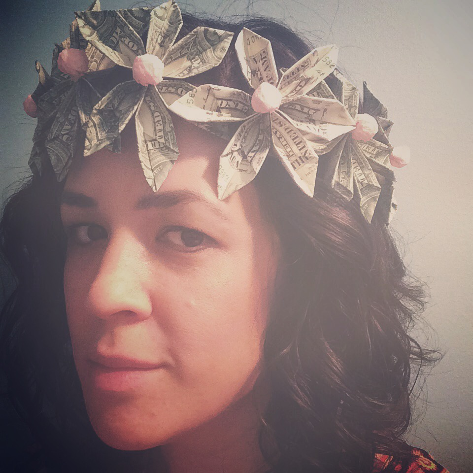 Kraftykym Floral Crown Made From Money
