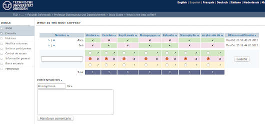 Dudle, la alternativa de software libre a Doodle