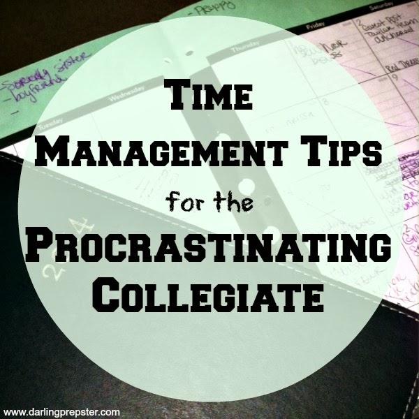 time management tips for the procrastinating collegiate