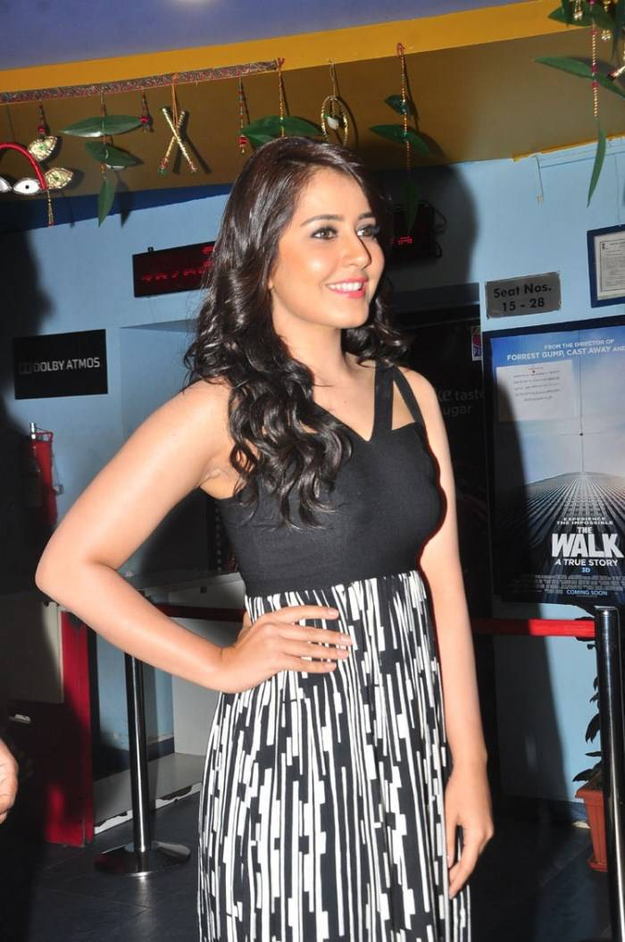South Indian Hot Girl Rashi Khanna Cute Pics In Black Dress