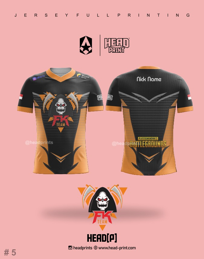 FK Team Jersey Full Printing - Contoh Desain Jersey - Jersey Satuan