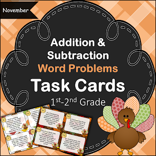 November Addition and Subtraction Word Problems
