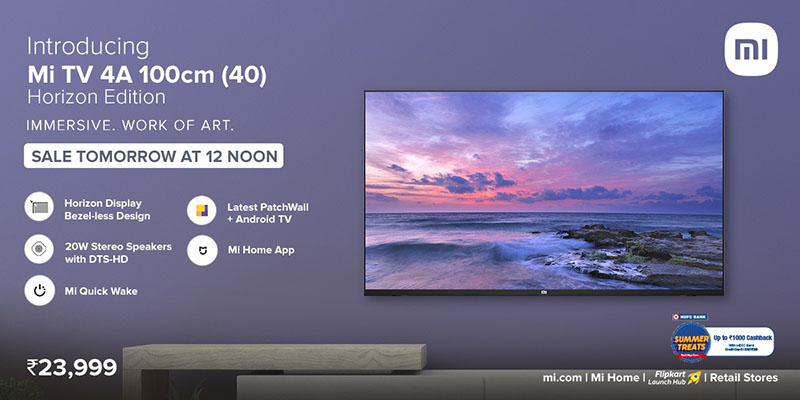 Xiaomi Mi TV 4A 40 Horizon Edition launched in India