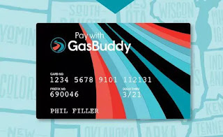 An image of what the GasBuddy card looks like.
