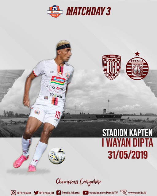 Live Streaming Bali United vs Persija Jakarta Liga 1 Indonesia 31.5.2019