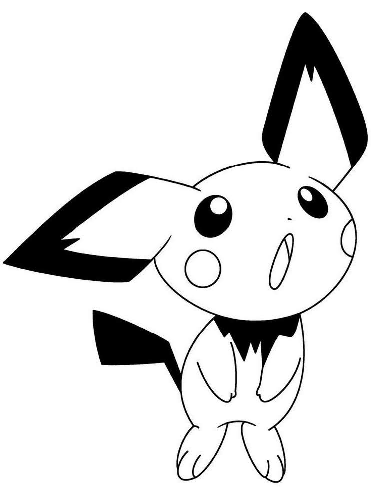 Pokemon Pichu Coloring Pages to Print - Free Pokemon ...