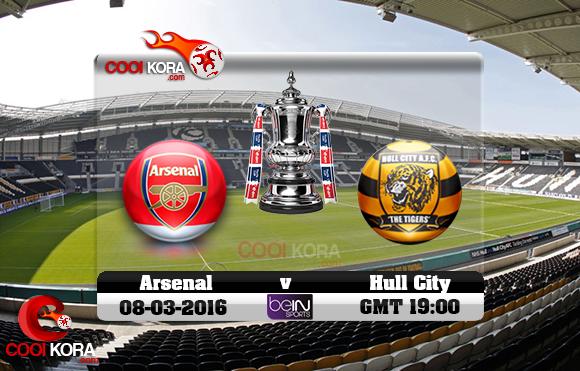 مشاهدة مباراة هال سيتي وآرسنال اليوم 8-3-2016 في كأس الإتحاد الإنجليزي