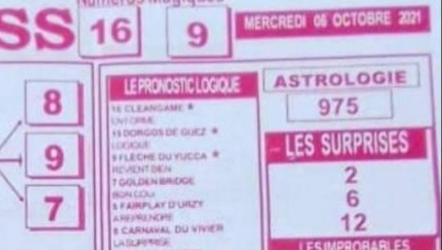 Pronostics quinté pmu Mercredi Paris-Turf TV-100 % 06/10/2021