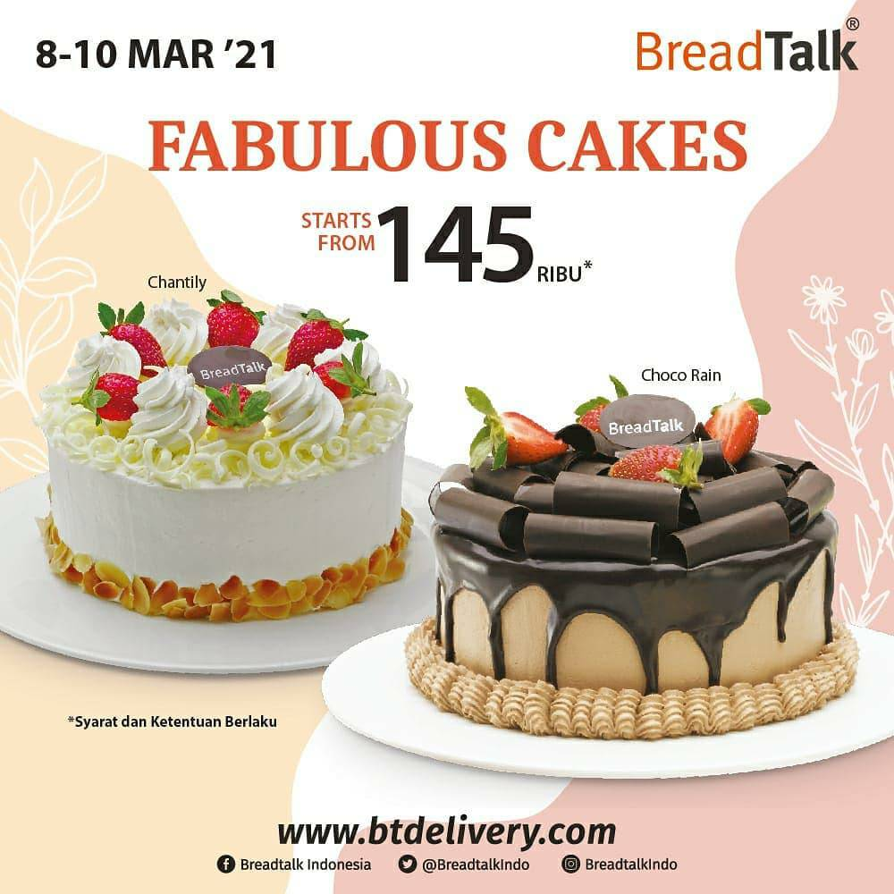 Breadtalk Promo Fabulous Cake – Whole Cakes Favorit mulai Rp 145.000