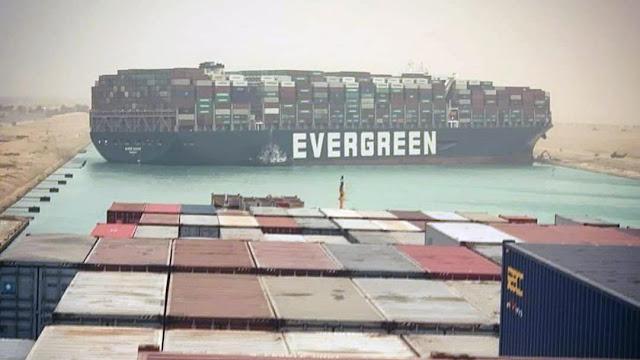سفينة Ever Given تغلق صمام تجارة العالم وترفع اسعار النفط 4%.