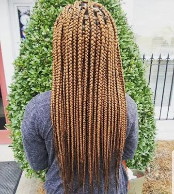 It is the season of wearing new bob box braids hairstyles ✘ 39 Cute Lemonade Bob Box Braids Ponytails With Cornrows