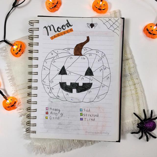 pumpkin bullet journal mood tracker