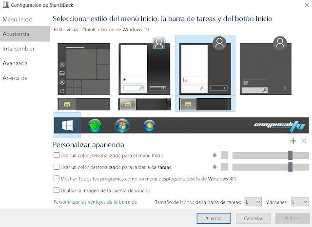 StartIsBack ++ Versión Full Español [Boton Menu Inicio]