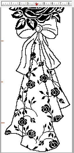 Филейная штора с розами крючком (4)
