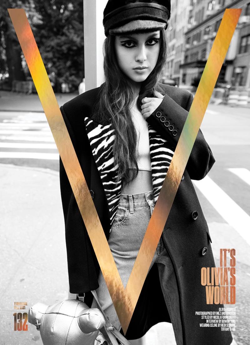 Olivia Rodrigo on V Magazine #132 Cover. Image: Courtesy of V Magazine