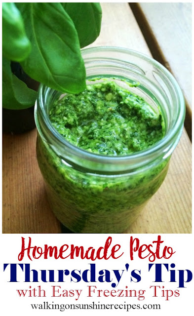 Homemade Basil Pesto Sauce
