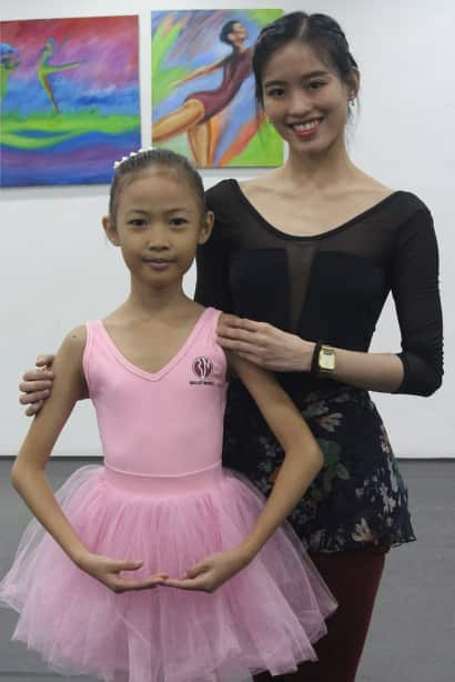 Ballet Camp i-Shiner Ricci with Joan Sia, Ballet Manila principal dancer