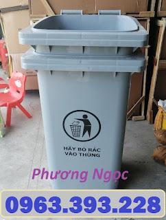 Thùng rác công nghiệp 120L nắp kín, thùng rác công cộng,thùng rác 120L nhựa HDPE Z1962539102542_d0b3c4a30528f863fe24dc461a39eb23