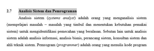 Analisis Sistem dan Pemrograman - ANALISIS DAN DESAIN SISTEM INFORMASI JOGIYANTO | LADANGTEKNO