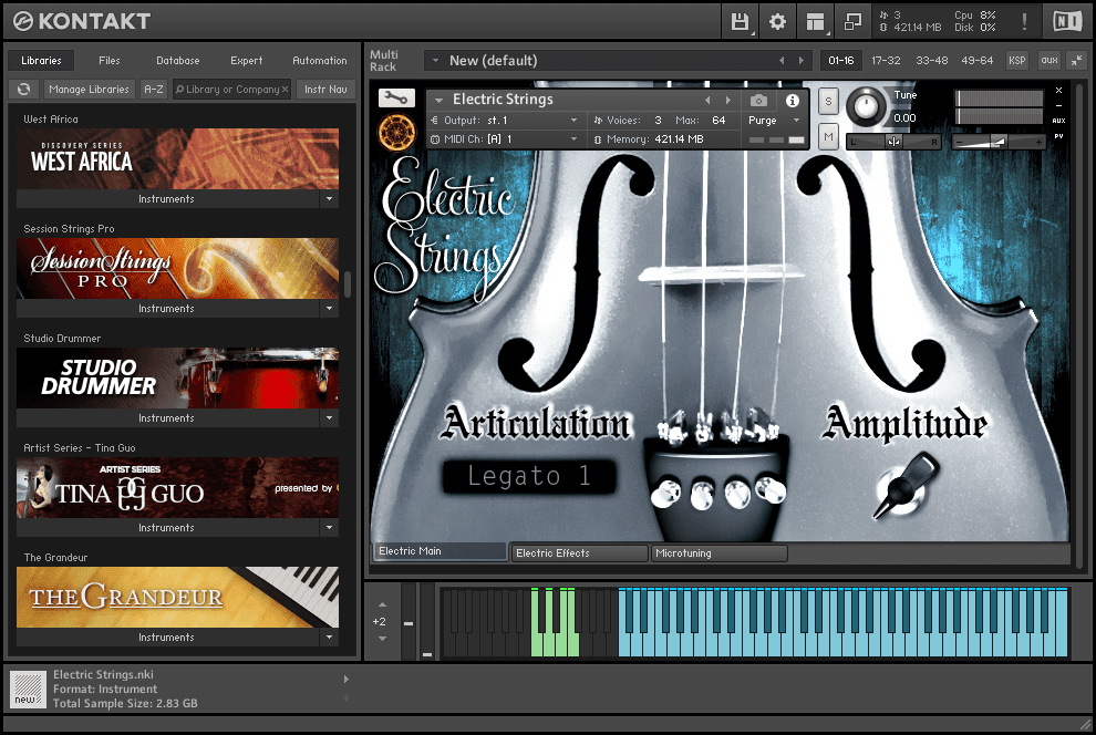 Neocymatics - Hybrid Strings KONTAKT Library Electric strings
