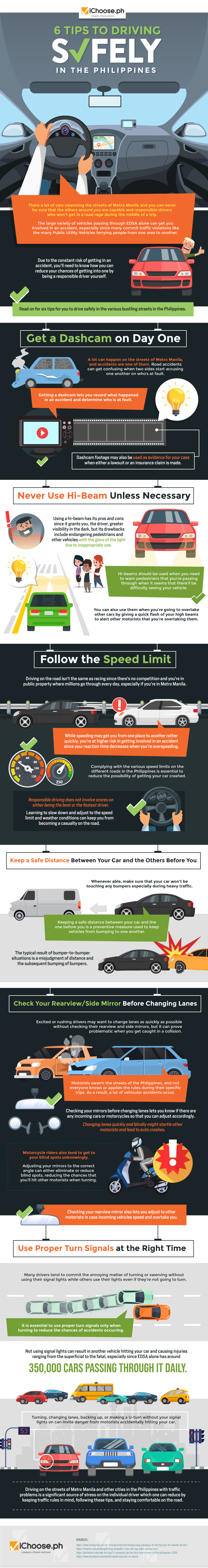 6 Tips to Driving Safely in the Philippines #infographic