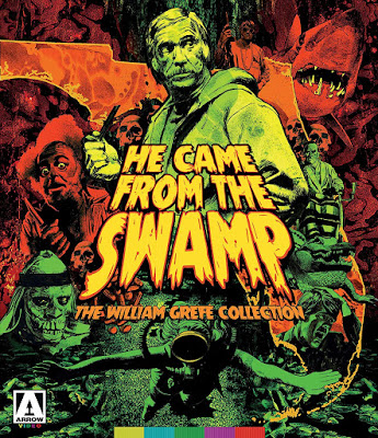 Cover art for Arrow Video's HE CAME FROM THE SWAMP Boxed Set!