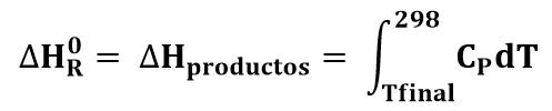 Entalpía estándar de reacción