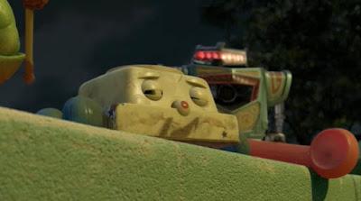 """Le """"Chatter telephone"""" (téléphone bavard) dans Toy Story 3, de Disney Pixar (2010)"""