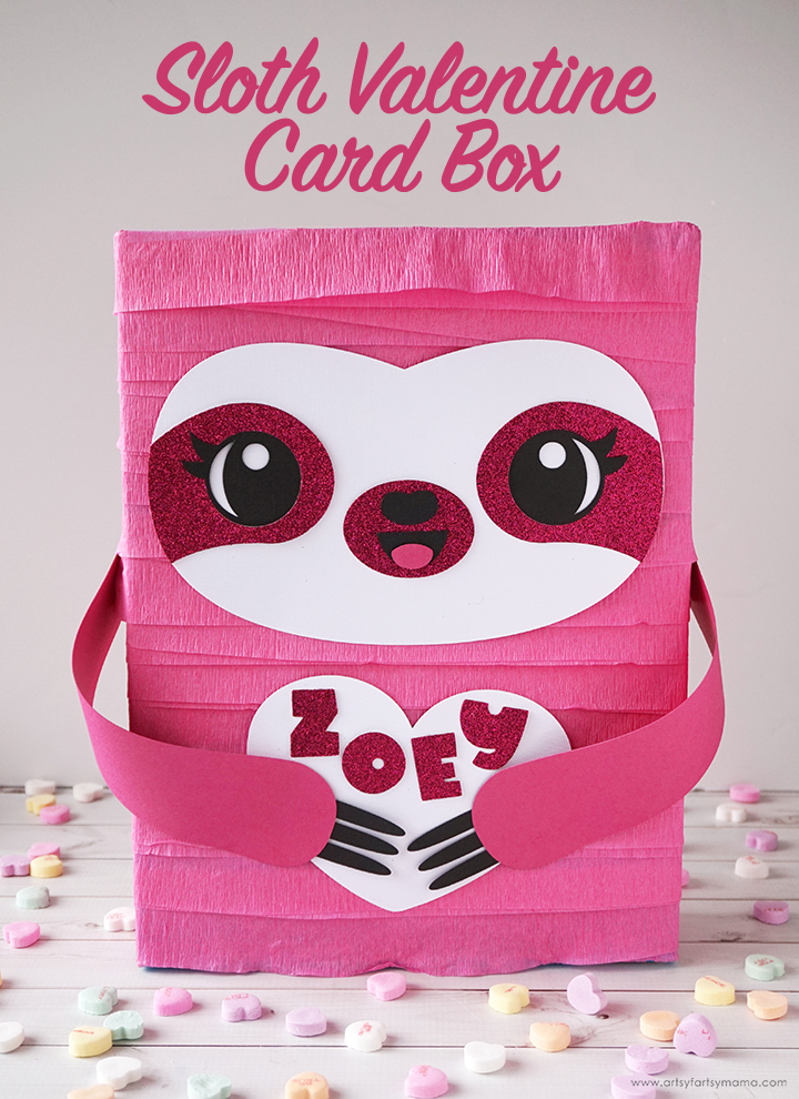 Sloth Valentine Card Box with Free Cut File