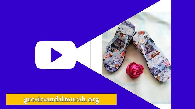Grosirsandalmurah.org - Wedges - AMX Spon Tebal Motif Bunga