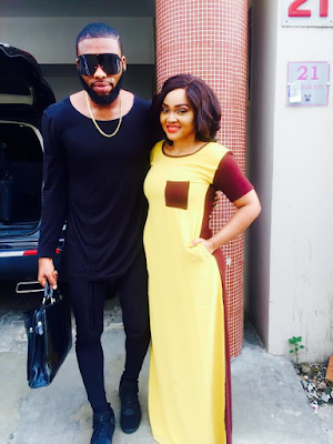 Mercy Aigbe on set of her new project with professional stylist Swankyjerry (See Photos)