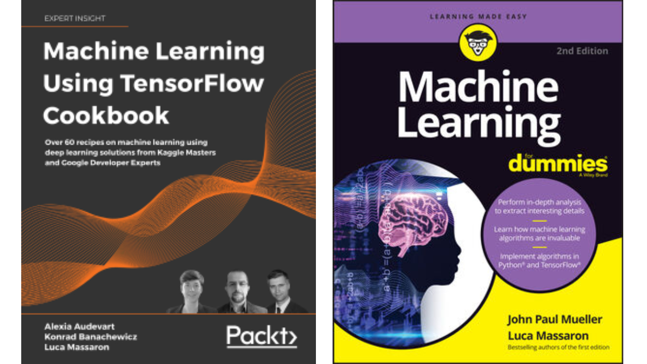 ML using TF cookbook and ML for Dummies book