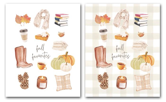 Printable Fall Favorites